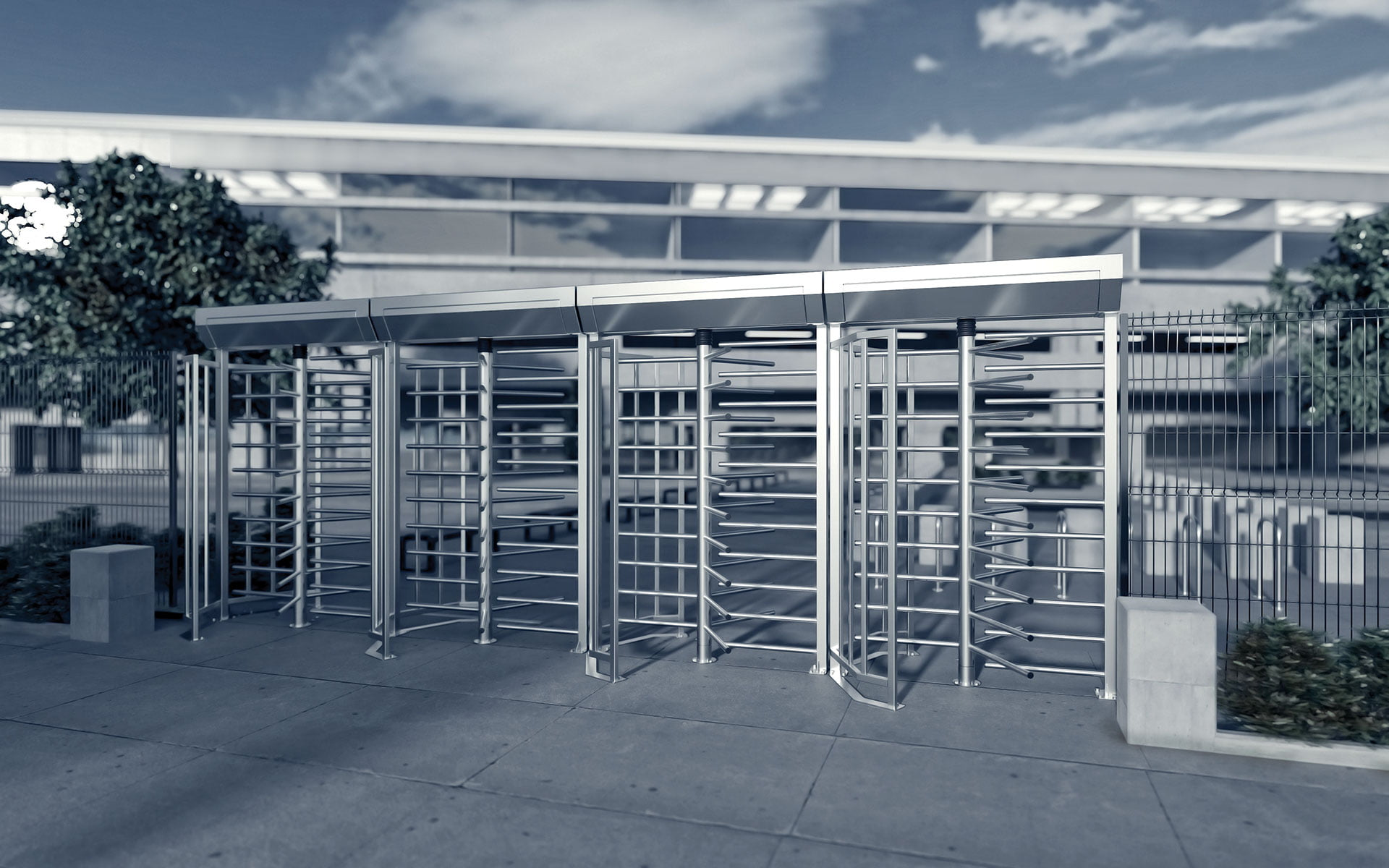 full height turnstile MA3-1-3 gastop