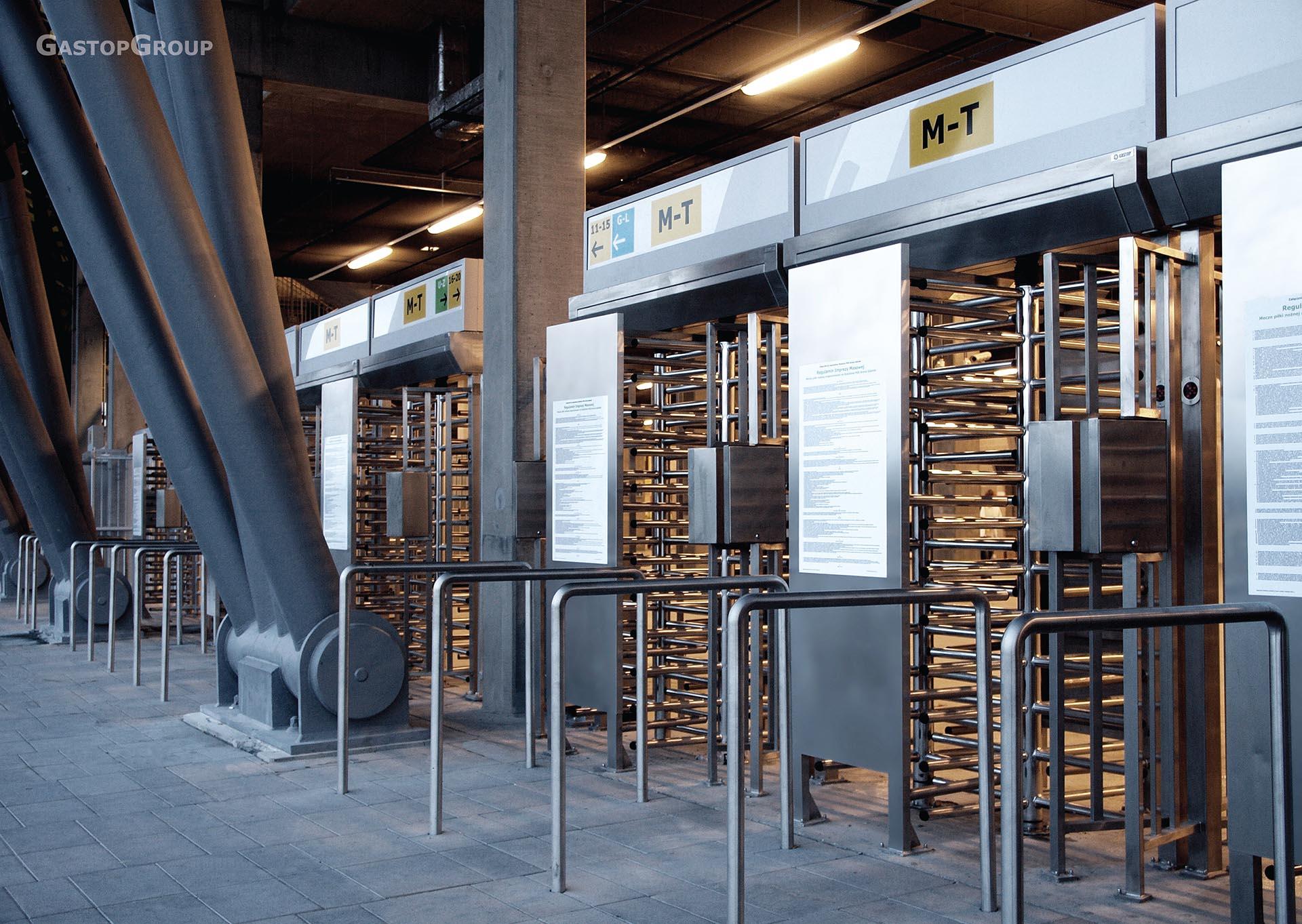 ordering of pedestrian traffic full height turnstiles